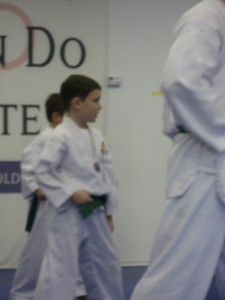 Ethan testing for Purple Belt