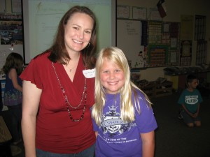 Mrs. Wilcox with Amberlee at Friendship Elem.