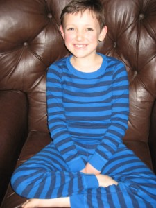 Ethan in Organic Cotton Jammies from Hannah Andersson (NO Flame Retardants!)