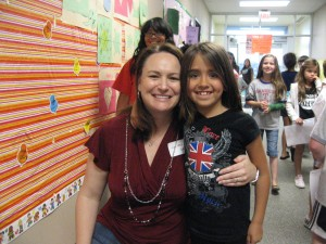 Mrs. Wilcox & Hannah at Friendship Elem.